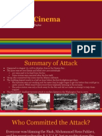 fire in cinema- terrorist attack