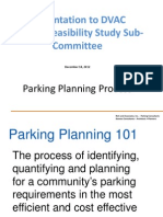 Parking Planning Process