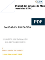 Evalucación de un proyecto educativo