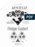 Tarantela de Philippe Gaubert para oboe, flauta y piano