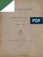 Cuvântări de Ferdinand I Regele României