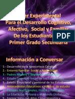 Desarrollo Cognitivo, Afectivo, Social y Familiar Estudiantes 1ro. Secundaria Lampa - Puno 2014