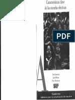 04 - SAMMONS, Pam (1998) Características de Las Escuelas Efectivas. Pags. 34-35, 35-39, 44-47, 51-53