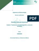 2. Transferencia de Material Genético y Selección Bacteriana