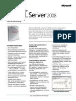 SQLServer2008 DW DataSheet