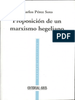 Perez%2c Proposicion de Un Marxismo Hegeliano
