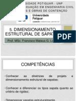 5. Dimensionamento Estrutural de Sapatas