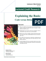 Explaining the Basis - Cash Versus Default Swaps