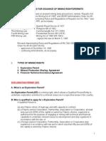 Mining Rights (EP,MPSA,FTAA)