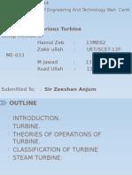 Presentation on various turbine