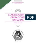 Clasificacion de Operaciones Unitarias