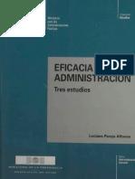 Eficacia y Administración. Tres Estudios. Luciano Parejo Afonso