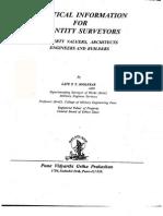 Practical Information to Quantity Surveyors