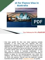 Checklist for Fiance Visa in Australia