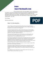 Joey Cardenas - Very Interesting Read....