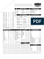 Hero 6E Character Sheet Excel