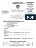 ECWANDC Special Finance Committee Agenda - May 18, 2015