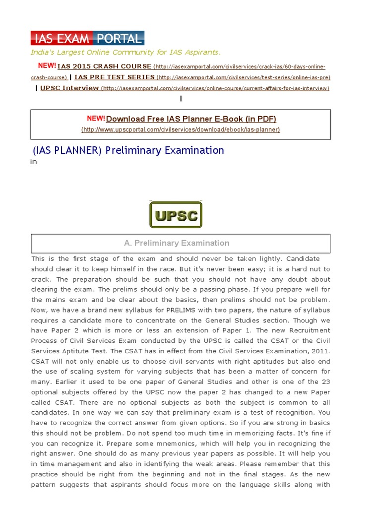 Ias planner preliminary examination iasexamportal indias ias planner preliminary examination iasexamportal indias largest community for ias csat upsc civil services exam aspirants reading comprehension fandeluxe Image collections