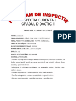 Proiect Inspectie Gradul II