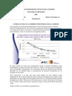 Prevalencia Anemia Ferropenica en Ecuador