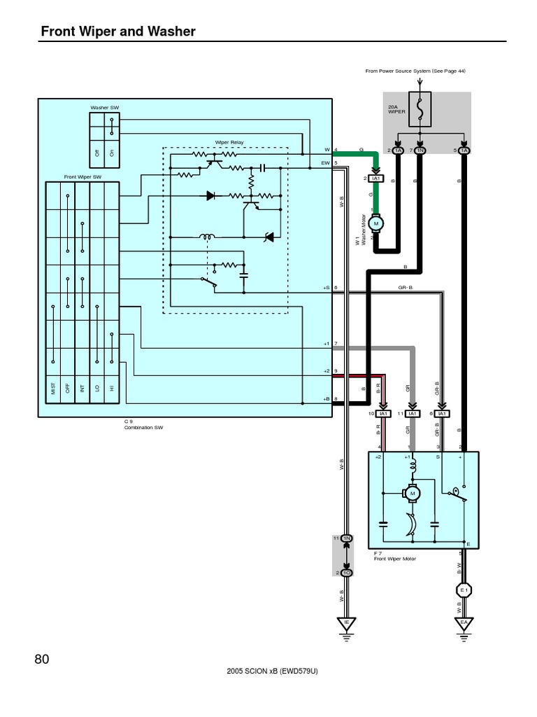 080 083 Front Wiper And Washer Vehicle Technology Vehicles Wiring Diagram For Jlg 800aj