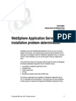 WebSphere Application Server Installation Problem Determination