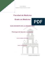 GUIA DOCENTE Patologia Del Aparato Locomotor 4 CURSO 2012 13