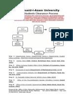 QAU Student Clearance Form