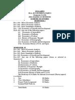 m.a. (Economics) Part-i(Semester i & II)