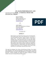 Presentation Paper Mcnulty Litigation and Bank Performance November 2014 No Names