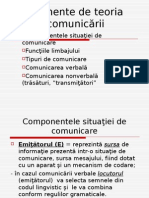 Elemente de Teoria Comunicarii