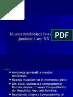 Muzica Romaneasca in a II-A Jum a Sec XX