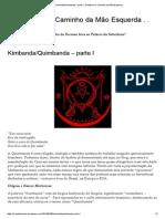 Kimbanda_Quimbanda – Parte I _ Ocultismo e Caminho Da Mão Esquerda