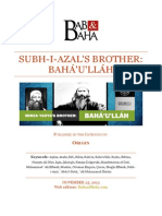 Subh-i-Azal's Brother; Bahá'u'lláh