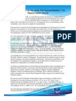 Fundación de La Facultad de Humanidades Y Su Repercusión Social