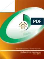 Cartilla Declaración de Importación 2012
