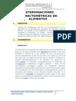 informe n°3- DETERMINACIONES REFRACTOMÉTRICAS EN ALIMENTOS