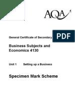 AQA GCSE Business Studies Exam Mark Scheme