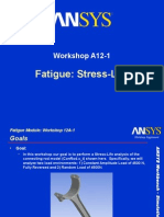 _Ansys - Work Shop - Fatigue - Stress vs Life