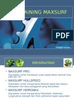 pelatihan maxsurf