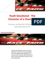 Youth Devotional - The Character of a Champion