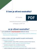 O čem je síťová neutralita?
