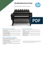HP Plotter T2500 Data Sheet