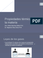Propiedades Térmicas de La Materia