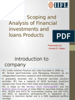 market scoping and analysis of financial investments