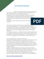 Le Contrat International (Résumé) S3