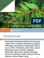 Plastisitas Dan Adaptasi Tumbuhan