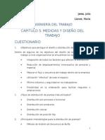Cuestionario Medidas y Diseño Del Trabajo