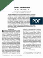 Morphology of Plastic/Rubber Blends