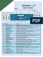 Bizhub c10 Quick Guide En
